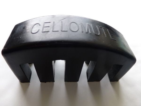 CELLO MUTE, HEAVY RUBBER, FOR 4/4 OR 3/4, BLACK, QUALITY ITEM, UK DESPATCH